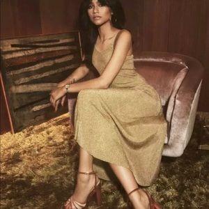 Zendaya Tommy Hilfiger Metallic Knit Tank Dress
